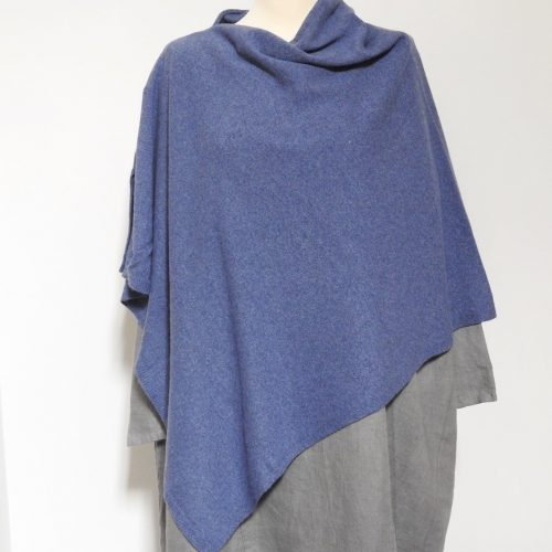 Denim Blue Poncho