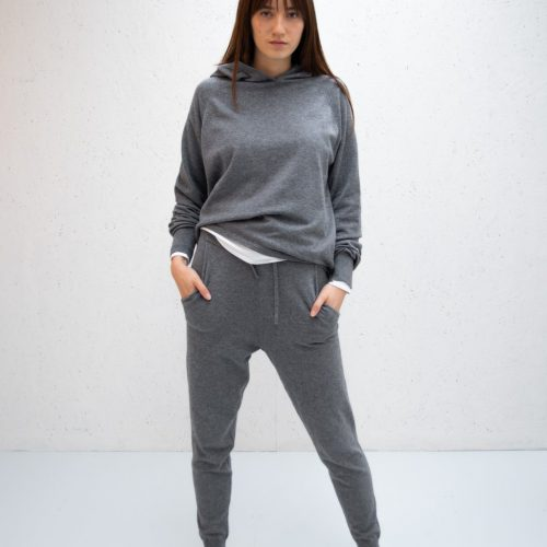 Super Soft Knitted Lounge Pant - Charcoal