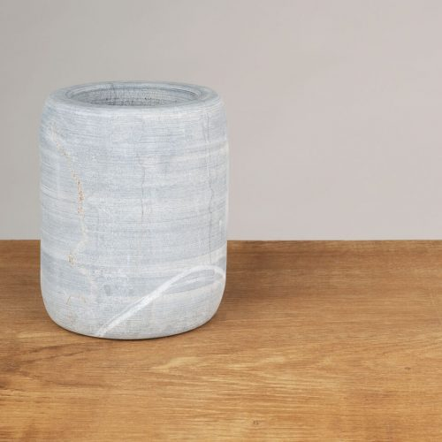 Raw Marble Utensil Holder