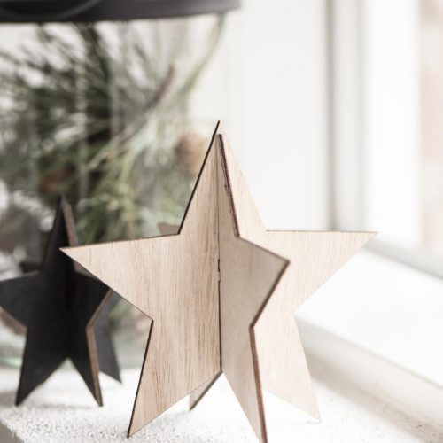 Wooden Slotted Star