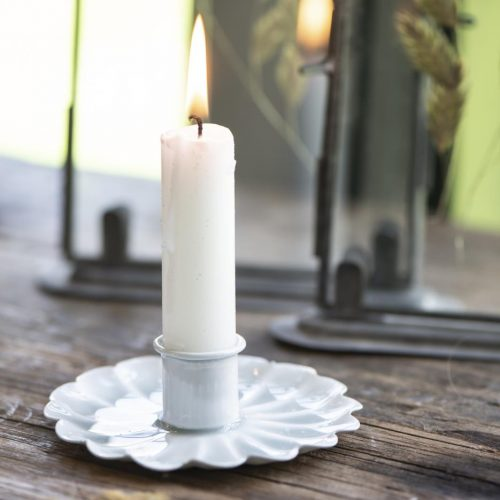 Short Dinner Candle - Grey