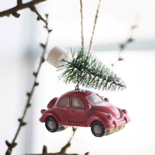 Car and Christmas Tree Decoration