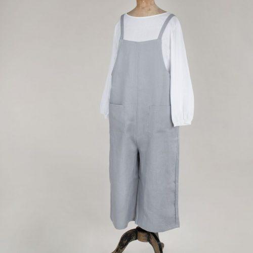 Silver Linen Jumpsuit