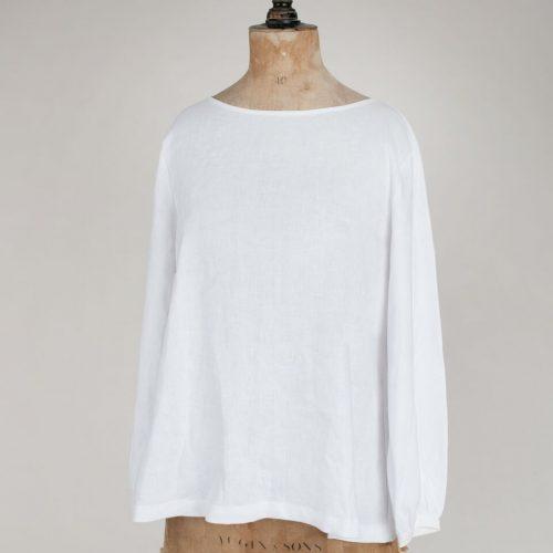 White Linen Top