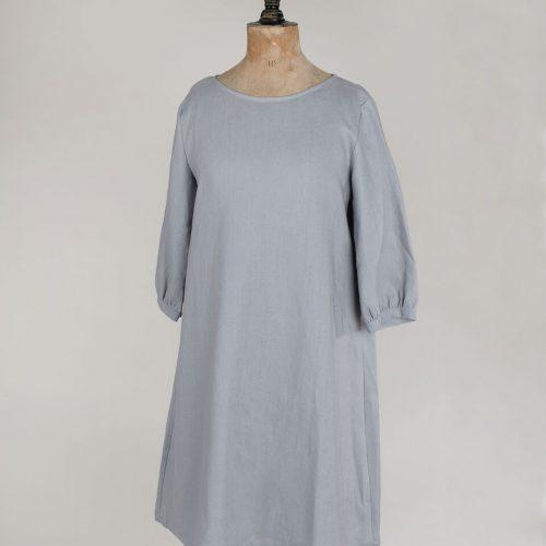 Silver Linen Dress