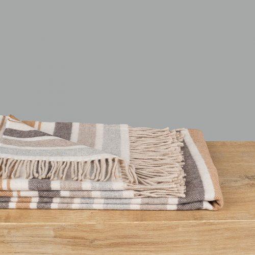 Natural Cashmere Stripe