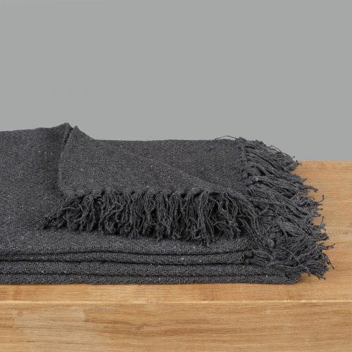 Anthracite Cotton Throw