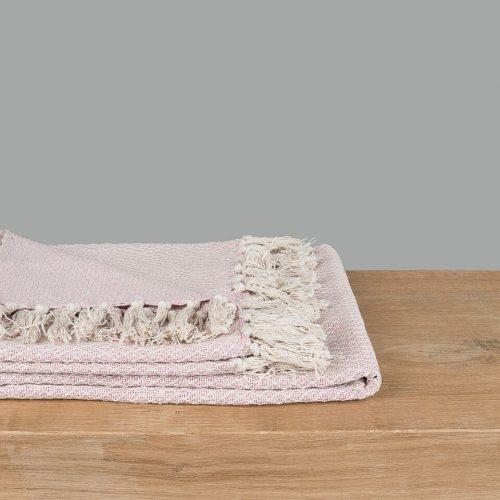 Soft Pink Cotton Throw