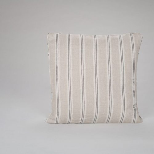 Mullion Stripe Charcoal Cushion
