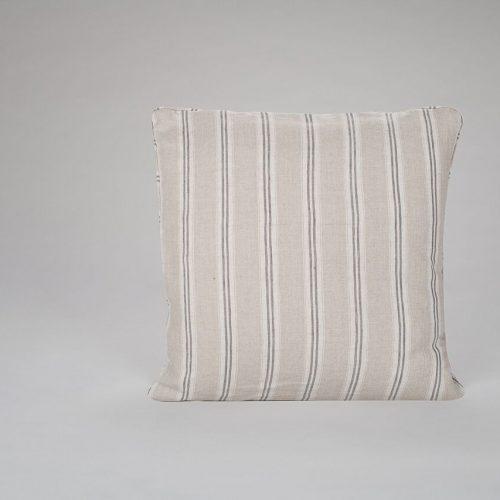 Mullion Stripe Charcoal Cushion