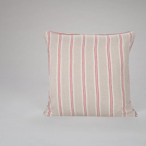 Mullion Stripe Red Cushion