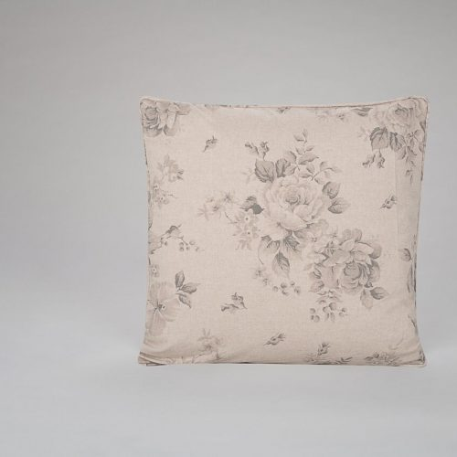 Faded Charcoal Roses Cushion