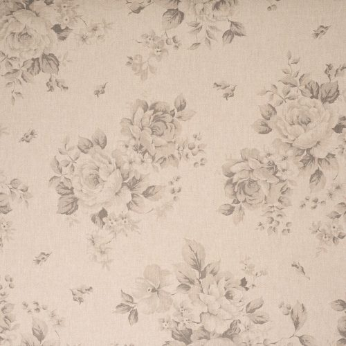 2.5m Faded Charcoal Roses (double width)
