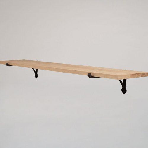 Large Raw Oak Shelf