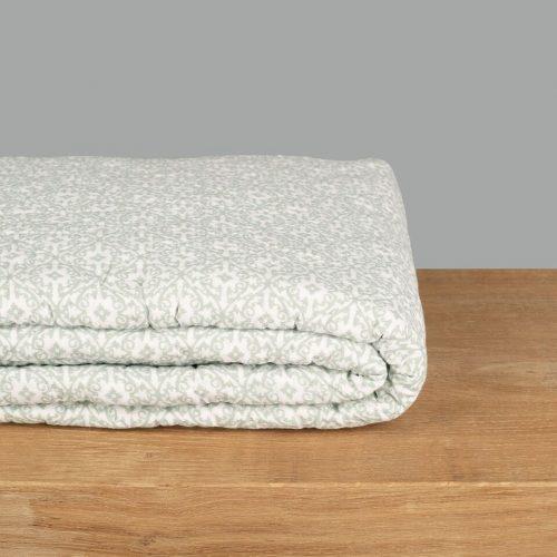 Soft Green Woodblock Quilt