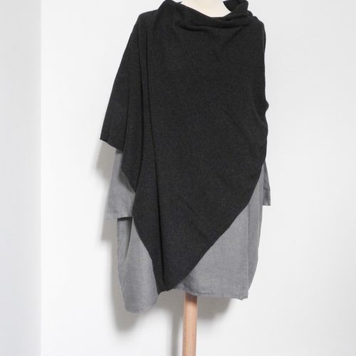 Anthracite Poncho