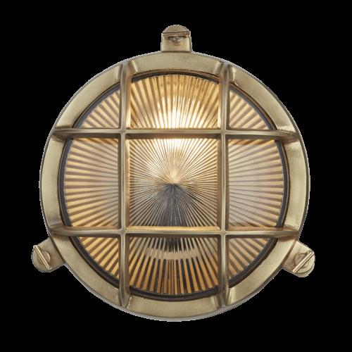 Round Bulk Head - Brass
