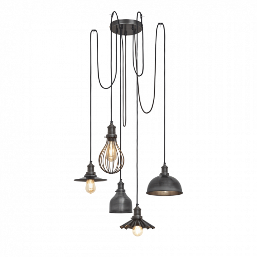 Brooklyn 5 Wire Pendant - Pewter