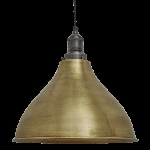 Brooklyn Cone Pendant - 12 Inch - Brass