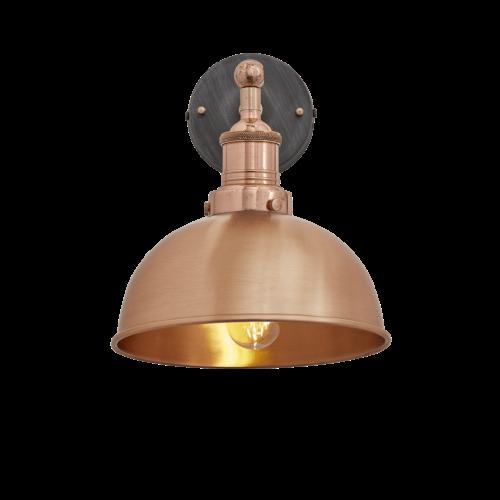 Brooklyn Dome Wall Light - 8 Inch - Copper