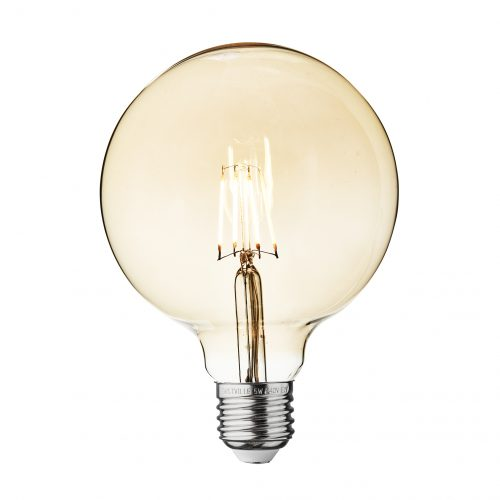 Large Globe Amber LED Filament Bulb