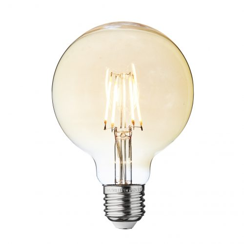 Small Globe Amber LED Filament Bulb