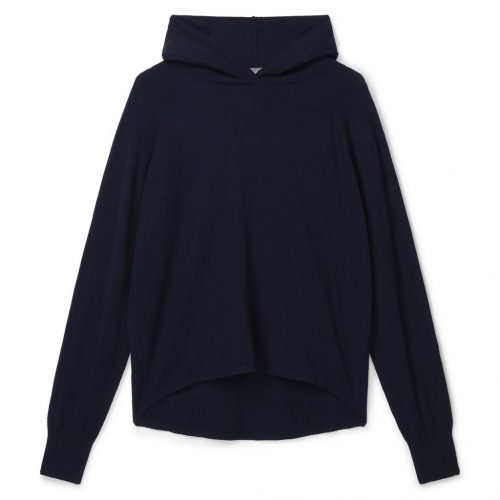 Super Soft Knitted Lounge Hoodie – Navy