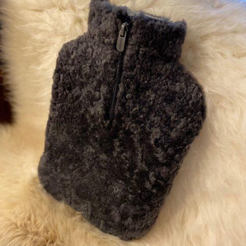 Sheepskin Hot Water Bottle Cover - Carbon