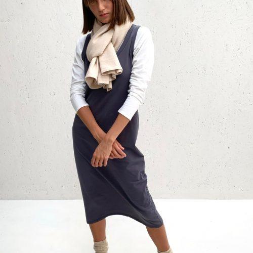Rachel Dress - Charcoal