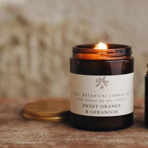 Botanical Candles - Sweet Orange & Geranium