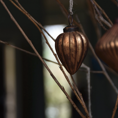 Gourd Old Gold Bauble