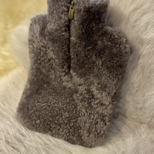Sheepskin Hot Water Bottle Cover - Stone
