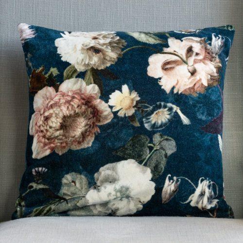 Velvet Cushion - Flora