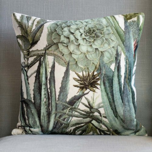 Velvet Cushion - Succulents