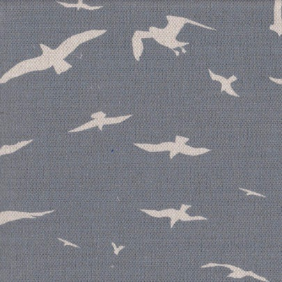 Seagulls Storm Blue Background on Oatmeal