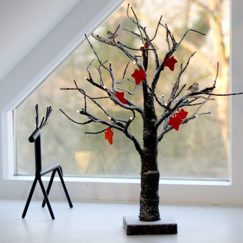 Light Up Snow Tree