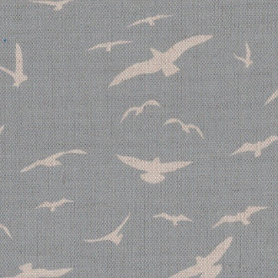 Seagulls Stone Blue Background on Oatmeal