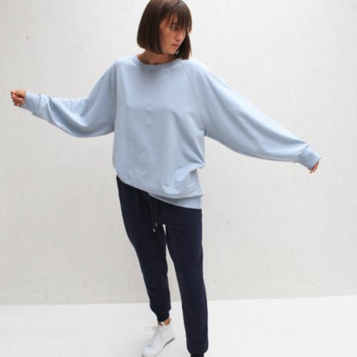 Oversized Sweatshirt - Pale Blue